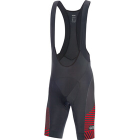 GORE WEAR C3 Bibshorts Herrer, black/red